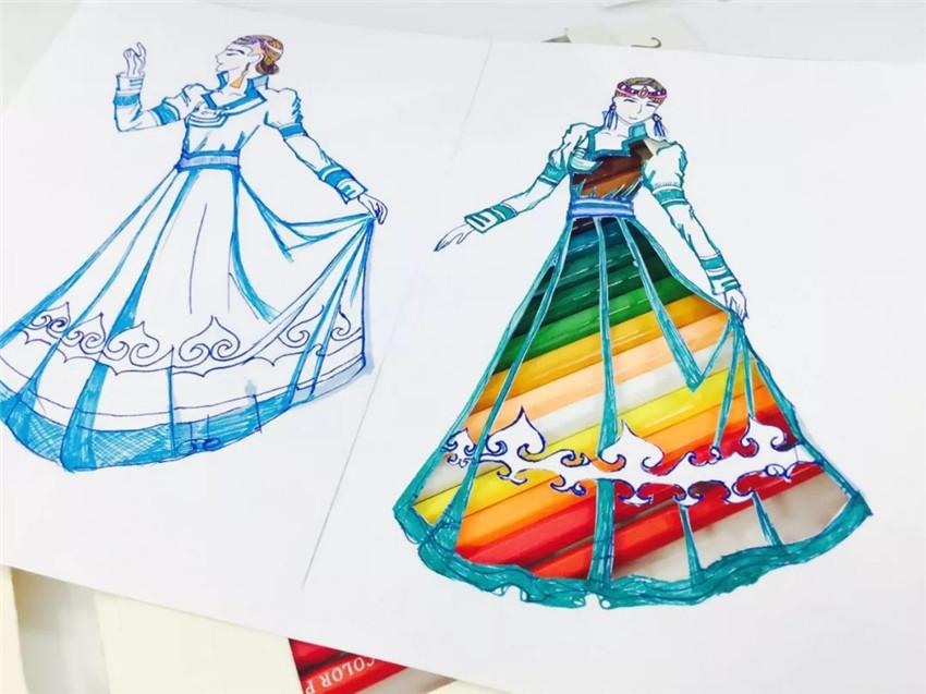 创意剪纸图:纸上生花,给夏天穿上蒙古袍