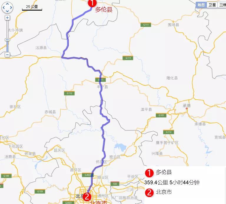 京津冀自驾游线路图 day 1:一早从北京出发,中午抵达太仆寺旗 游玩